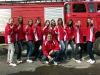 Forgatás a pázmándi tűzoltó lányokkal