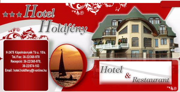 Hotel Holdfény, Kápolnásnyék, Velencei-tó, Szállás, száloda, étterem, vendéglátás, konferenciaterem, rendezvények, esküvők