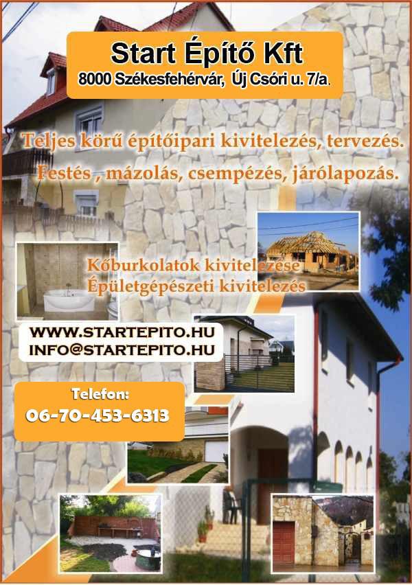 Start Építő Kft, Építőipari kivitelezések, Székesfehérvár