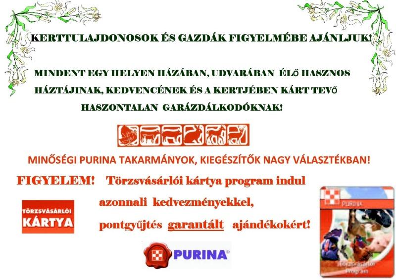 Langarden Bt - Purina takarmány kizárólagos területi képviselő és forgalmazó