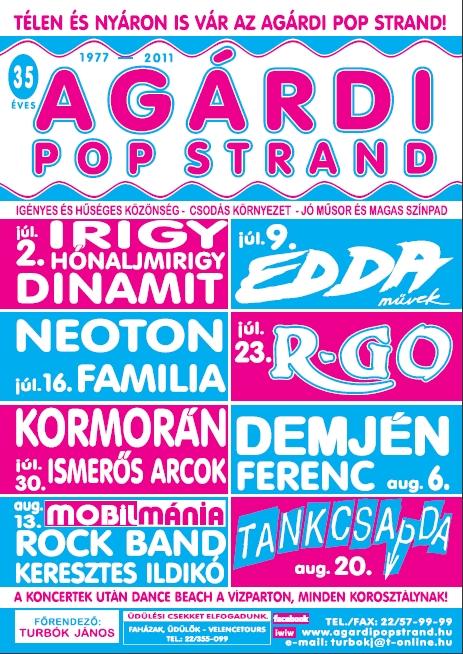 Agárdi Pop Strand Porgramjai - 2011