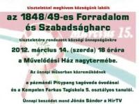 Március 15-i megemlékezés Pázmándon