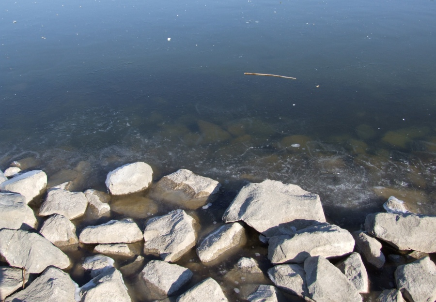 3 cm a Velencei-tó jege...