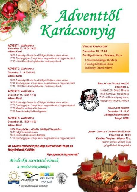 Adventtől karácsonyig Velencén