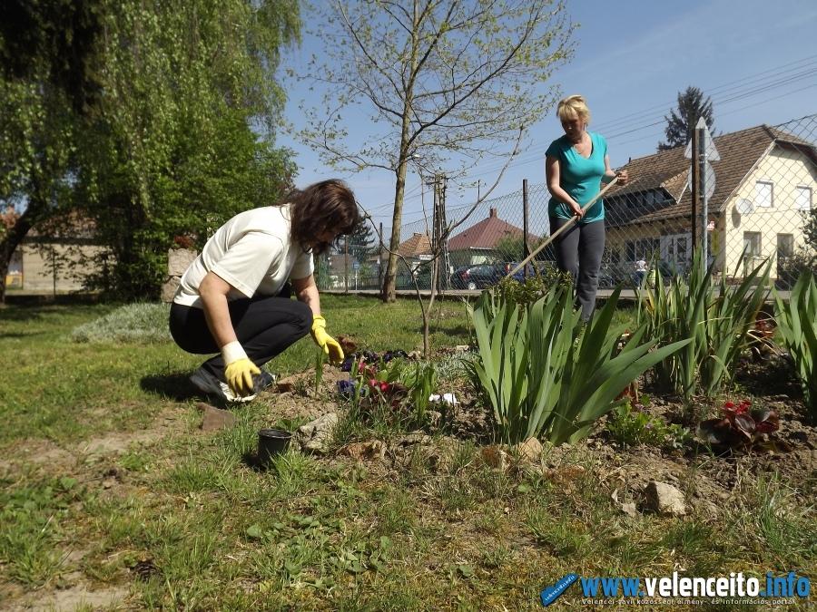 Az óvoda udvarának szépítése