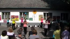 A legelső zichyújfalui mazsorettesek léptek fel az ovi 40. születésnapján – videó