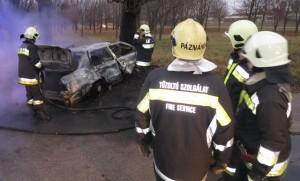 Halálos baleset Kápolnásnyéken - Fotók