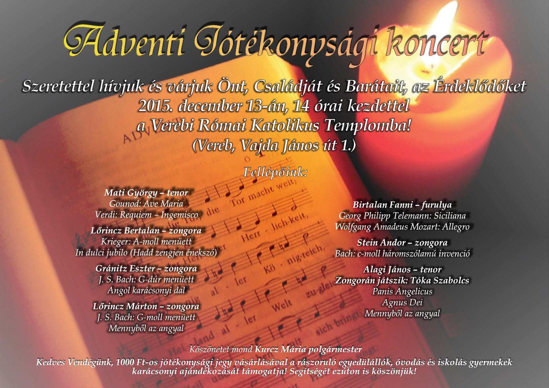 Adventi Jótékonysági Koncert