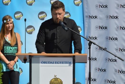 Koszti András, Velence polgármestere a 2015-ös EFOTT sajtótájékoztatóján