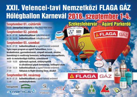 XXII. Velencei-tavi Nemzetközi FLAFA GÁZ Hőlégballon Karnevál @ Agárdi parkerdő