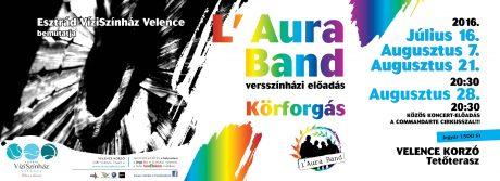 Esztrád Vízi Színház - L'Aura Band: Villanások @ Velence Korzó