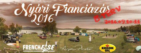 Nyári Franciázás – B terv - 2016. szeptember 10–11. @ Tóparty Rendezvénystrand
