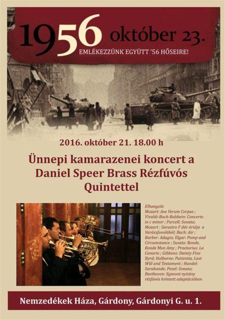 Ünnepi kamarazenekari koncert - Daniel Speer Brass Quintet @ Nemzedékek Háza