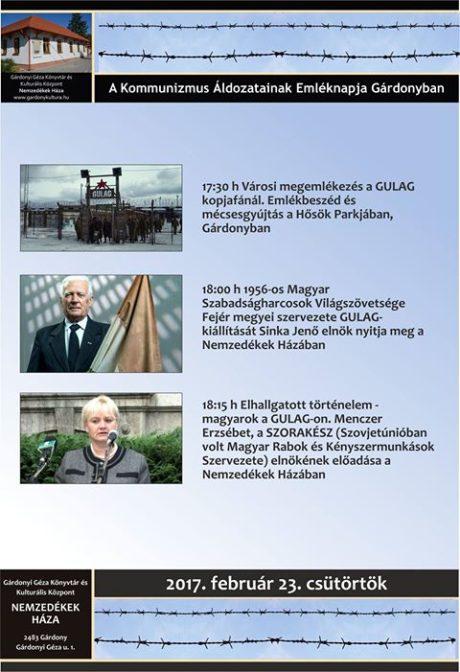 Magyarok a Gulagon - városi megemlékezés @ Nemzedékek Háza
