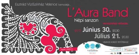 L'Aura Band: Népi sanzon - Velence Víziszínház @ Velence Korzó Tetőterasz