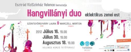 Hangvillányi duo eklektikus zenei est - Velence Víziszínház @ Velence Korzó Tetőterasz