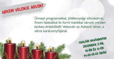 Nekem Velence Advent @ Velence Adventi tér