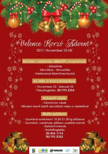 Velence Korzó Advent @ Velence Korzó