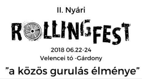 II. Nyári Rollingfest a Velencei-tónál @ Tóparty Rendezvénystrand