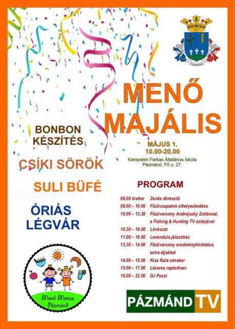 Menő Majális Pázmándon @ Kempelen Farkas Általános Iskola