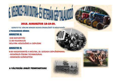 6. Velencei-tavi Dutra- és Veterángép találkozó @ Dinnyési Hagyományőrző Központ