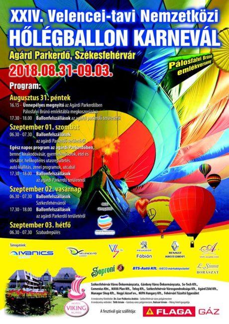 XXIV. Velencei-tavi Nemzetközi Hőlégballon Karnevál @ Több helyszínen
