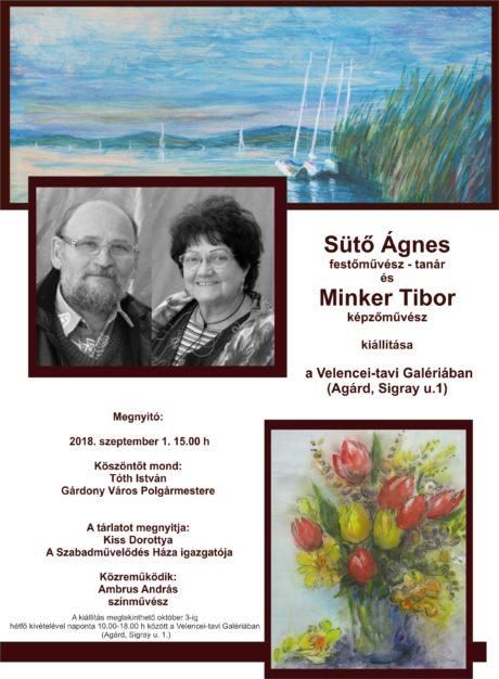 Sütő Ágnes és Minker Tibor kiállítása Agárdon @ Velencei-tavi Galéria