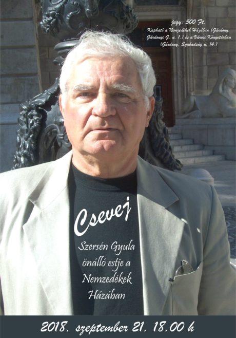 Szersén Gyula önálló estje Gárdonyban @ Nemzedékek Háza