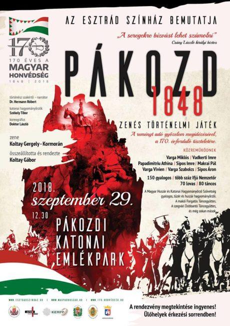 Pákozd 1848 - Zenés történelmi játék @ Katonai Emlékpark