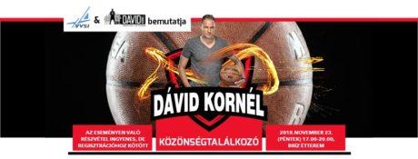 Közönségtalálkozó Dávid Kornéllal Agárdon @ Velencei-tavi Vízi Sportiskola VVSI