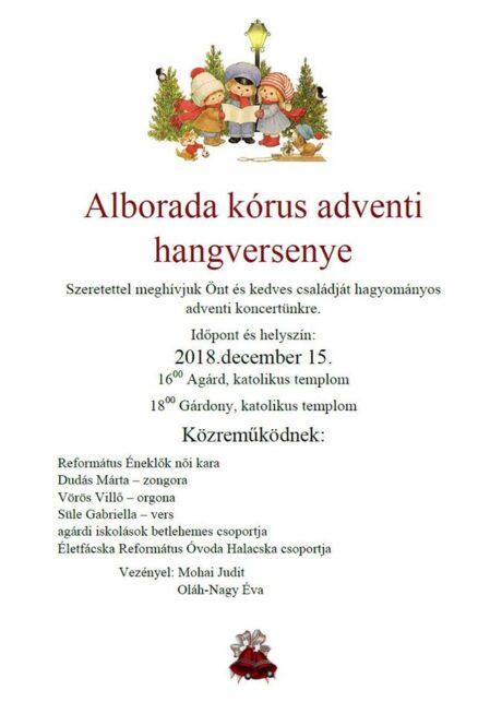 Alborada kórus adventi hangversenye @ Több helyszínen