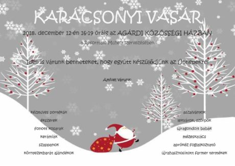Karácsonyi Vásár Agárdon @ Agárdi Közösségi Ház