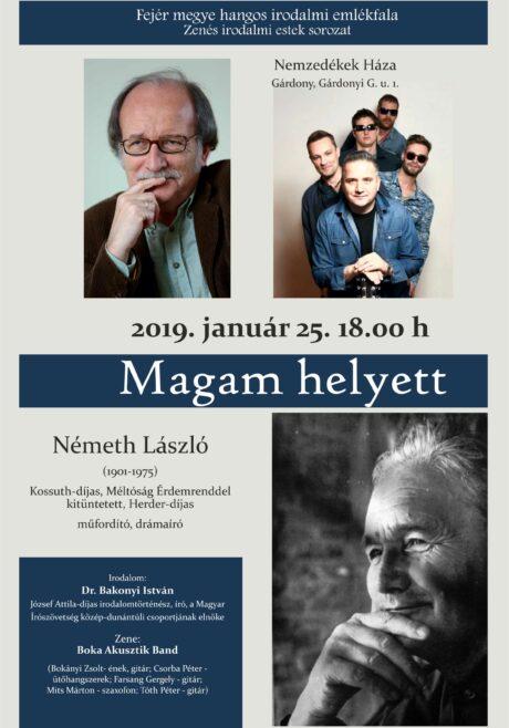 Zenés irodalmi estek sorozat Gárdonyban @ Nemzedékek Háza