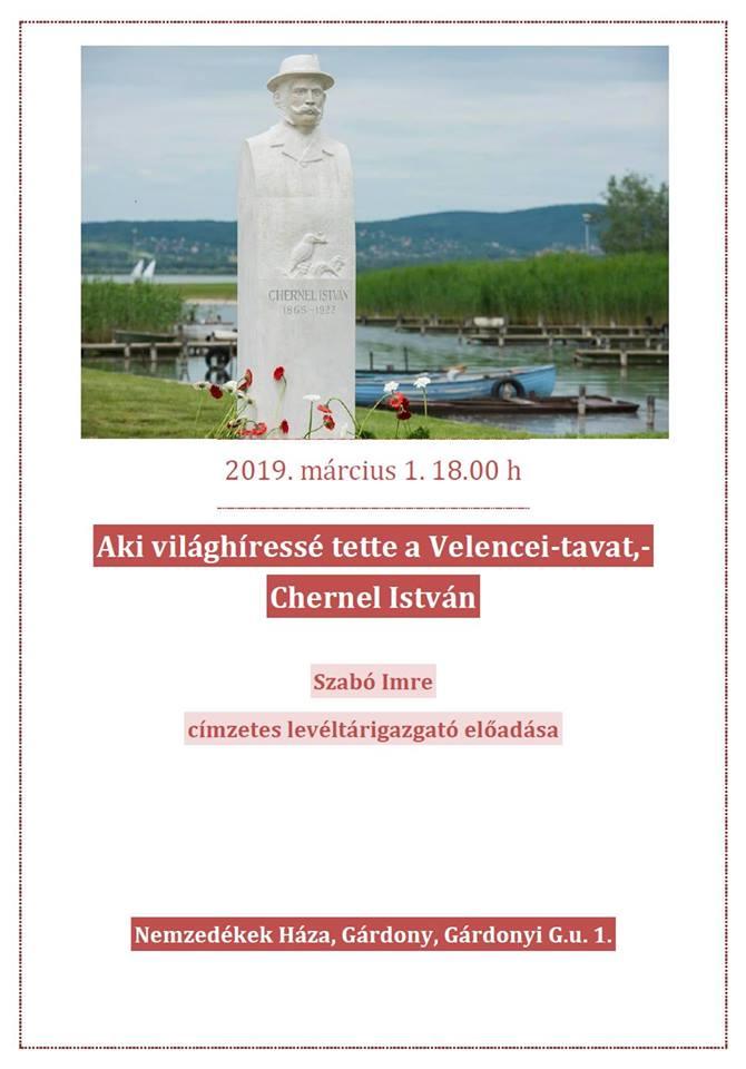 Aki világhíressé tette a Velencei-tavat - előadás Gárdonyban @ Nemzedékek Háza