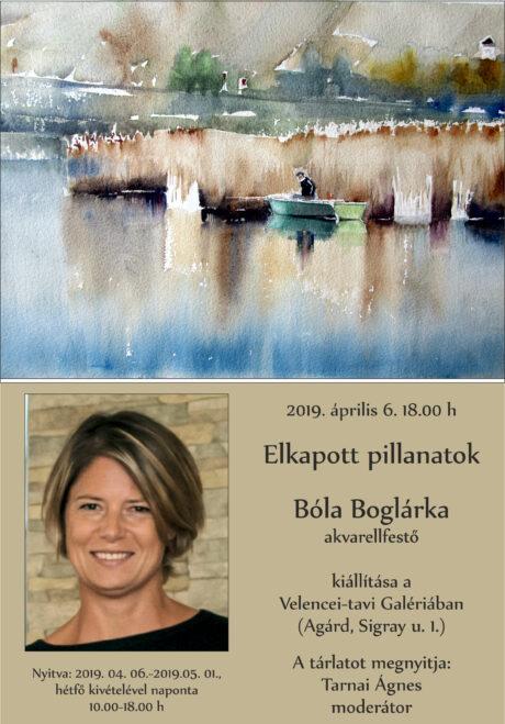 Bóla Boglárka akvarellfestő kiállítása Agárdon @ Velencei-tavi Galéria