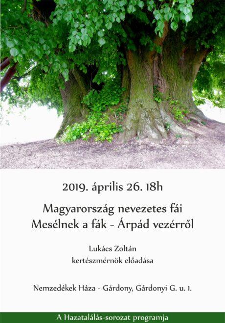 Magyarország nevezetes fái - előadás Gárdonyban @ Nemzedékek Háza