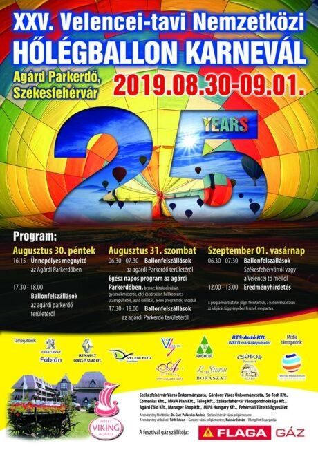XXV. Velencei-tavi Nemzetközi Hőlégballon Karnevál @ Több helyszínen