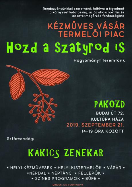 Kézműves vásár - termelői piac Pákozdon @ Kultúra Háza