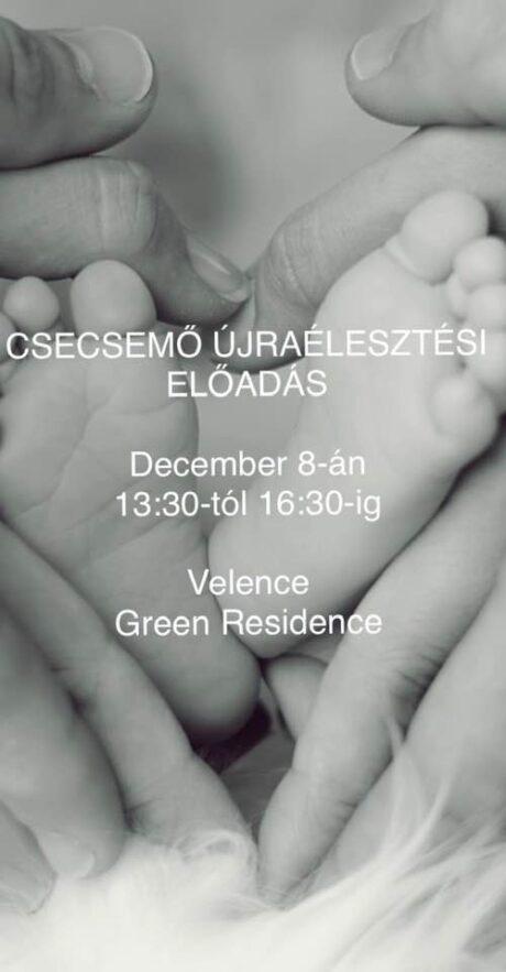 Csecsemő újraélesztési előadás @ Green Residence Élményközpont