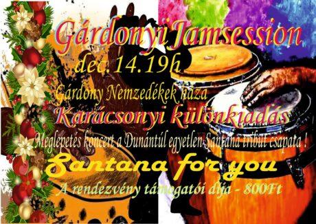 A Gárdonyi Jam Session és a Santana for you ! @ Nemzedékek Háza