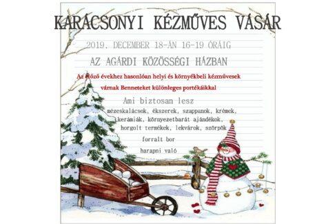 Karácsonyi Kézműves Vásár Agárdon @ Agárdi Közösségi Ház