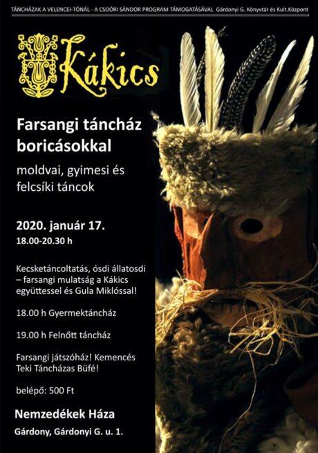 Farsangi táncház Gárdonyban @ Nemzedékek Háza